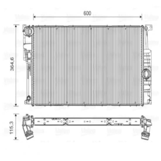 Bmw F20 F30 Su Radyatörü 17117600516